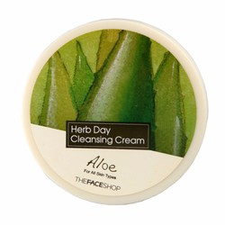 Kem tẩy trang Herb day Cleansing Cream Aloe The face shop