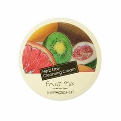 Kem tẩy trang Herb day Cleansing Cream Fruit Mix The face shop