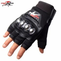 Găng tay Probiker hở ngón gù inox