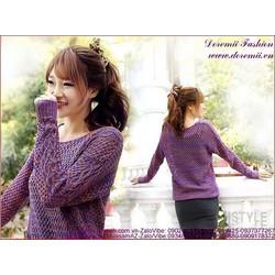 Áo len dệt kim tay dài pha màu trẻ trung năng động AL39