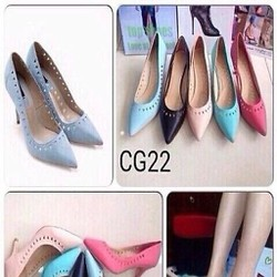 Giày cao gót nữ công sở khoét lỗ sành điệu thời trang GCN257