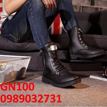 Giày Bốt Nam cao cấp Hàn Quốc - GN100