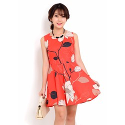Đầm xòe họa tiết xinh xắn