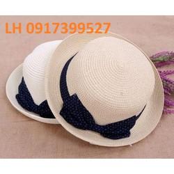 Nón rộng vành đi biển  thời trang phối màu HKNRV012