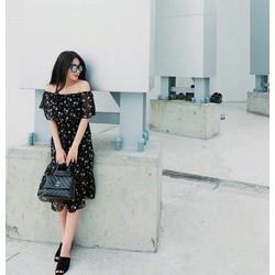 Đầm maxi bẹt vai bèo siêu xinh