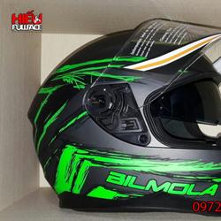 Nón bảo hiểm moto 2 kính Bilmola Defender 2016 chất lượng tốt