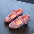 Giày cao gót kim tuyến cho bé GBG31