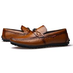 Giày lười nam da bò cao cấp,vân da cá sấu sang trọng mẫu mới ZS042