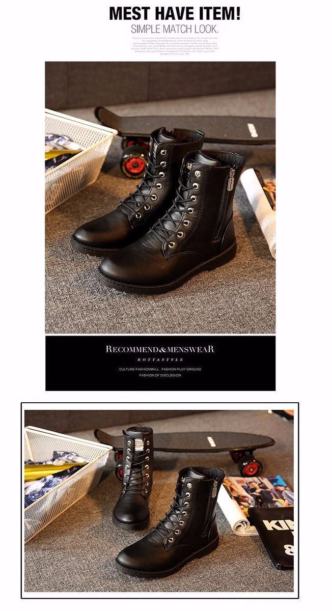 Giày Bốt Nam cao cấp Hàn Quốc - GN100 8