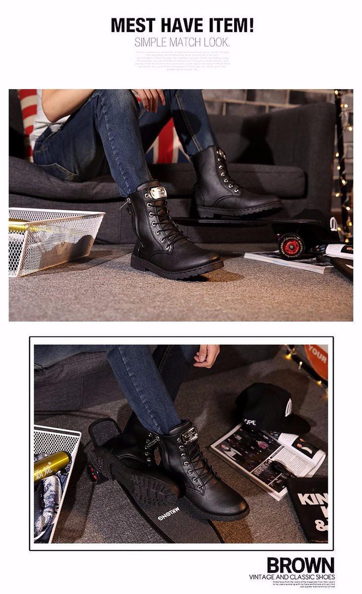 Giày Bốt Nam cao cấp Hàn Quốc - GN100 4