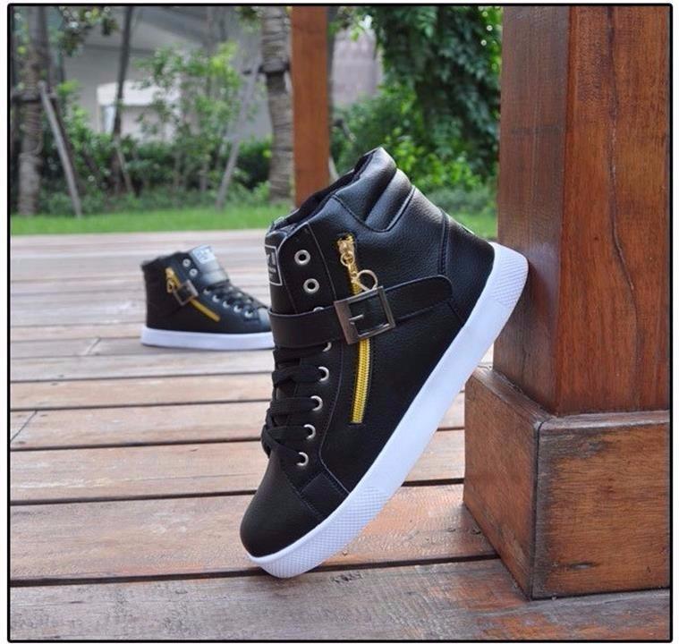 Giày thể thao cao cổ phối dây kéo cực chất Hàn Quốc - GN105 4