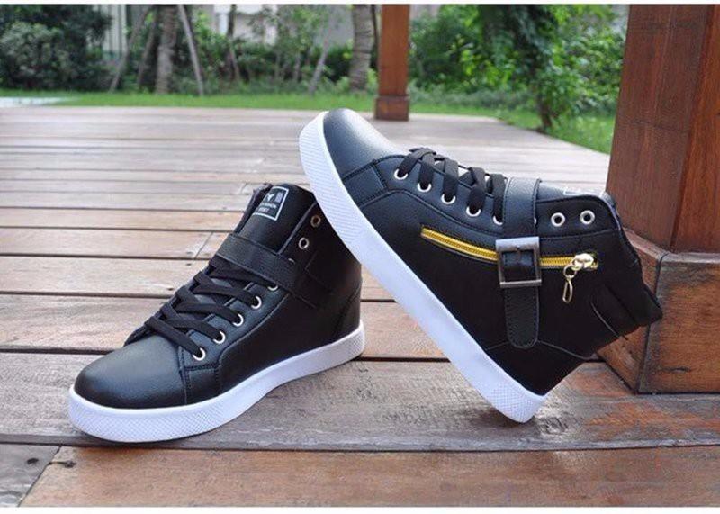 Giày thể thao cao cổ phối dây kéo cực chất Hàn Quốc - GN105 2