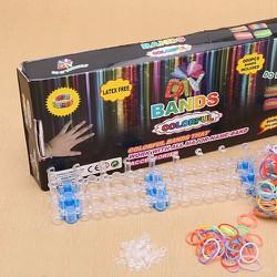 Bộ kit làm vòng tay thun cầu vồng có khung đan