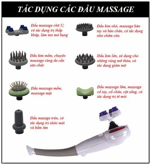 Máy massage cầm tay King 7 đầu Magic-0965.011.567 4