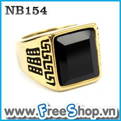 Nhẫn đá nam cao cấp NB154 - BH vĩnh viễn ko đen