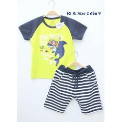Bộ áo quần thun Yoyo hình cá cho bé trai
