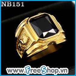 Nhẫn đá nam hình rồng NB151 - BH vĩnh viễn ko đen