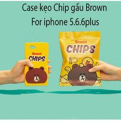 Ốp lưng dẻo thú nổi kẹo Chips cho Iphone - Giá Cực Sốc