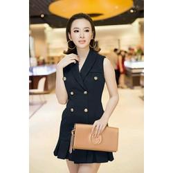 Đầm Công Sở Giả Vest Sang Trọng Như Angela Phương Trinh