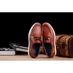 Giày da kiểu dáng đơn giản năng động mạnh mẽ màu nâu
