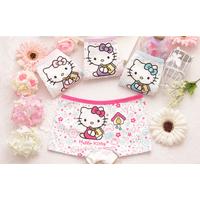 Bộ 4 quần chíp đùi Hello Kitty siêu yêu cho bé gái từ 2 tới 10 tuổi