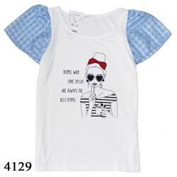 4129 Áo bé gái xuất Korea Colza - Love to eat B - Tinker Bell Kids