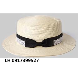 Nón rộng vành đi biển  thời trang phối màu HKNRV015