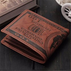 Ví Da Nam In Hình Tiền 100$ - Có Hộp