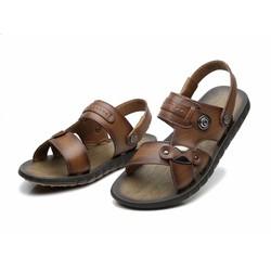 Dép sandal da nam phong cách thời trang trẻ 2016