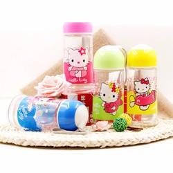 Bộ 2 Bình Nước Thủy Tinh Họa Tiết Hello Kitty