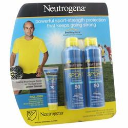 Bộ sản phẩm kem chống nắng Neutrogena Sport SPF 50 and SPF70 của Mỹ