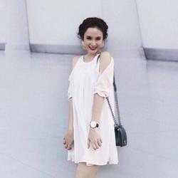 Đầm Suông Khoét Vai