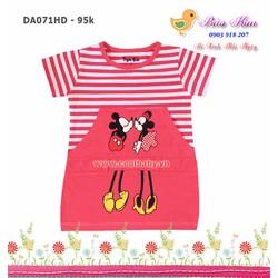 Đầm sọc Mickey - hồng dâu
