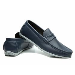 Giày da nam thời trang công sở chất liệu dẻo màu xanh đen