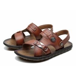 Dép sandal da nam chất liệu dẻo 2016
