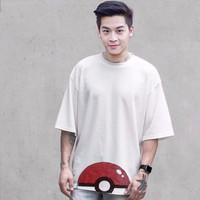 Áo thun Overtee Pokemon go đen trắng áo thái