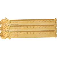 Thước gỗ Doremon 150mm bộ 3 thước