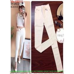 Quần jean nữ dài ống ôm sành điệu thời trang QD331