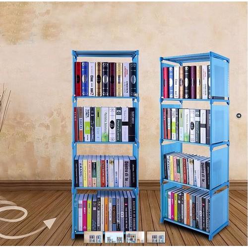 Tủ sách nhựa lắp ghép 4 tầng | Giá sách | Kệ sách