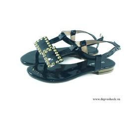 Giày Sandal Đính Đá màu đen