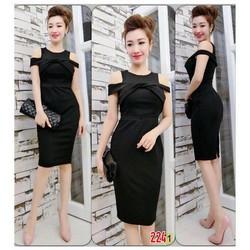 Đầm body bẹt vai - 30110.N