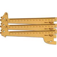 Thước gỗ hươu 150mm bộ 3 thước