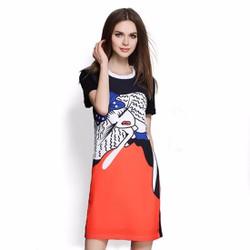 Đầm suông chất liệu thun lạnh cao cấp thiết kế độc quyền bởi Ivinci