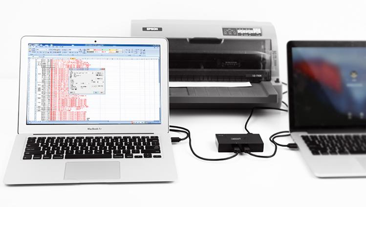 Bộ chia sẻ máy in qua cổng USB 2.0 chính hãng Ugreen - 30345 7