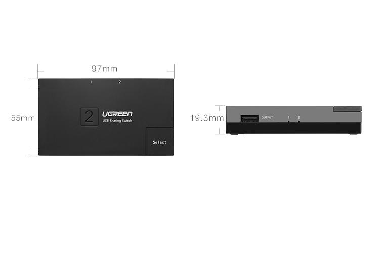Bộ chia sẻ máy in qua cổng USB 2.0 chính hãng Ugreen - 30345 8