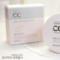 Kem nền CC Cream Aura Color Control Cream The Face Shop giá chỉ 350k