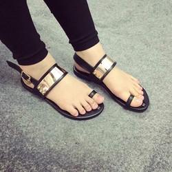 sandal xỏ ngón bảng kim loại
