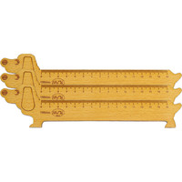 Thước gỗ chó 150mm bộ 3 thước
