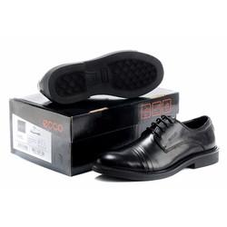 Giày da nam kiểu dáng đơn giản năng động mạnh mẽ màu đen