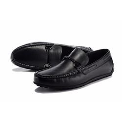Giày da nam kiểu dáng mới hợp thời trang chất liệu da màu đen
